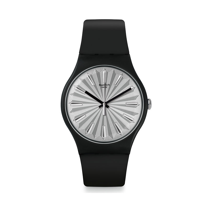 Swatch Unisexuhr Silver Shield SUOB172