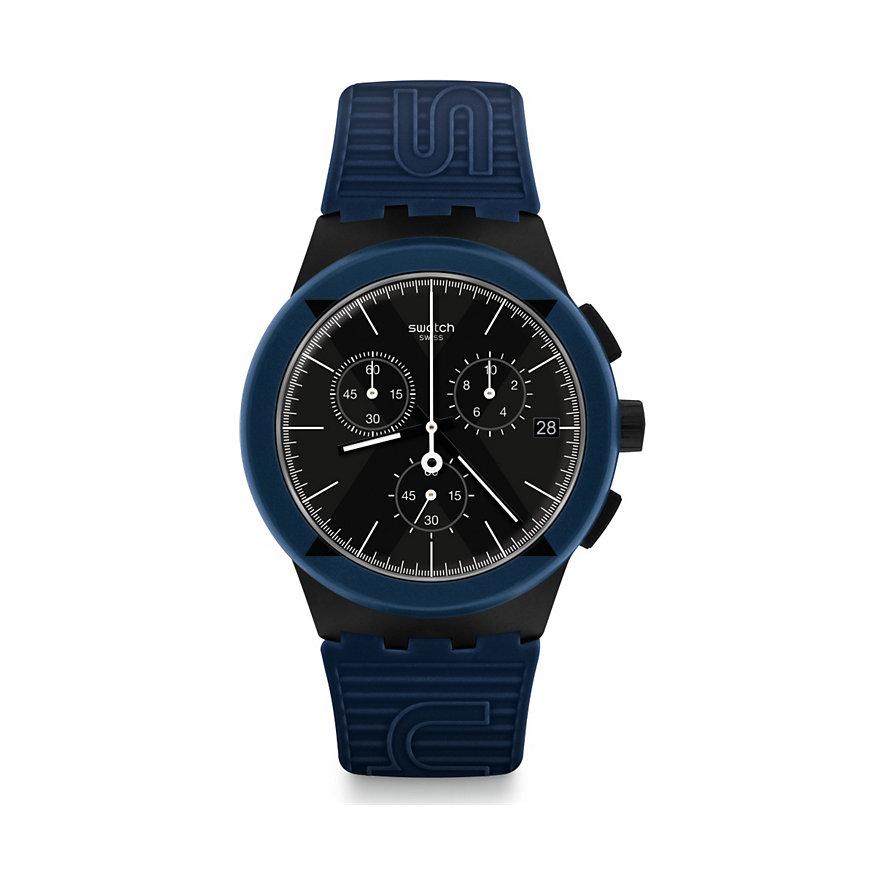 Swatch Unisexuhr Xdistrict Blue SUSB418