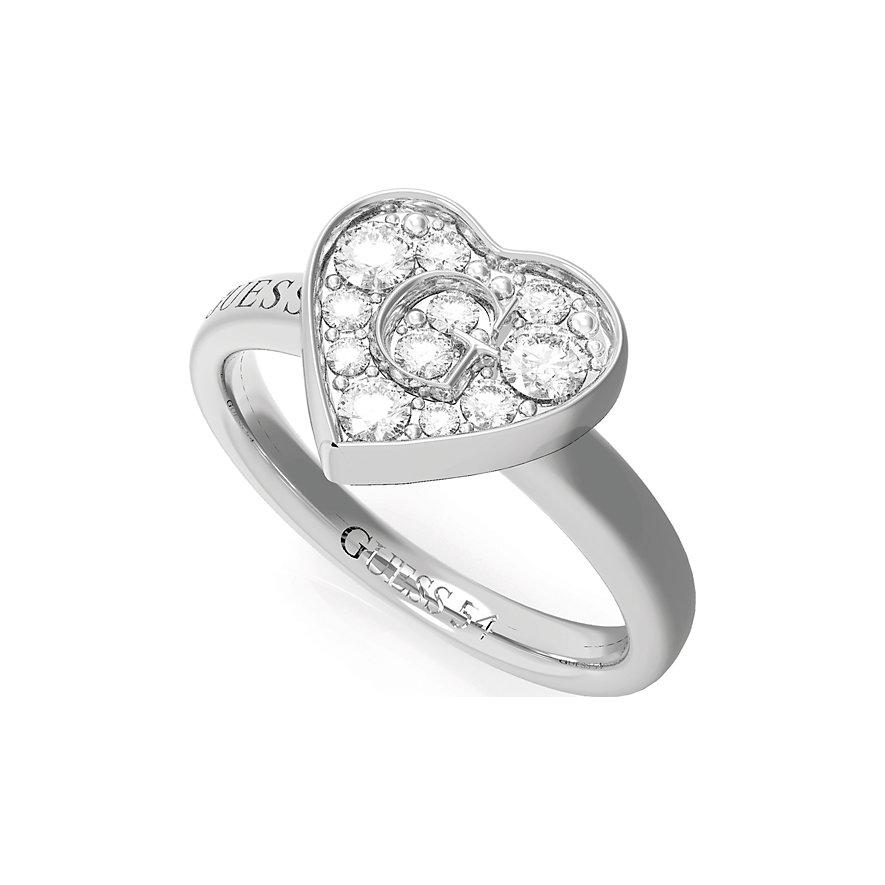 Guess Damenring Pave G Heart Crystals Ring(rh) UBR79028-54