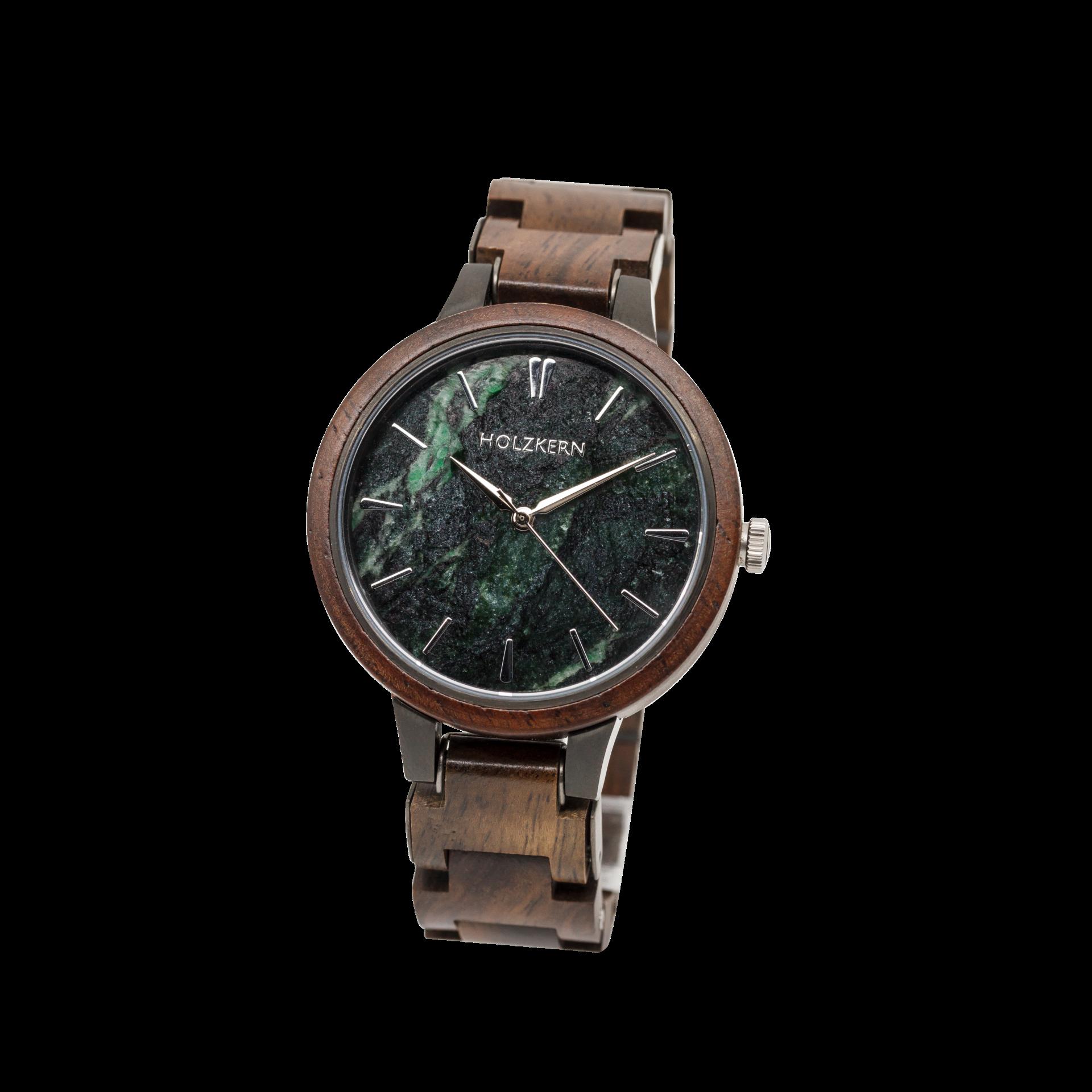 Holzkern Armbanduhr Antoninus (Leadwood/Marmor)
