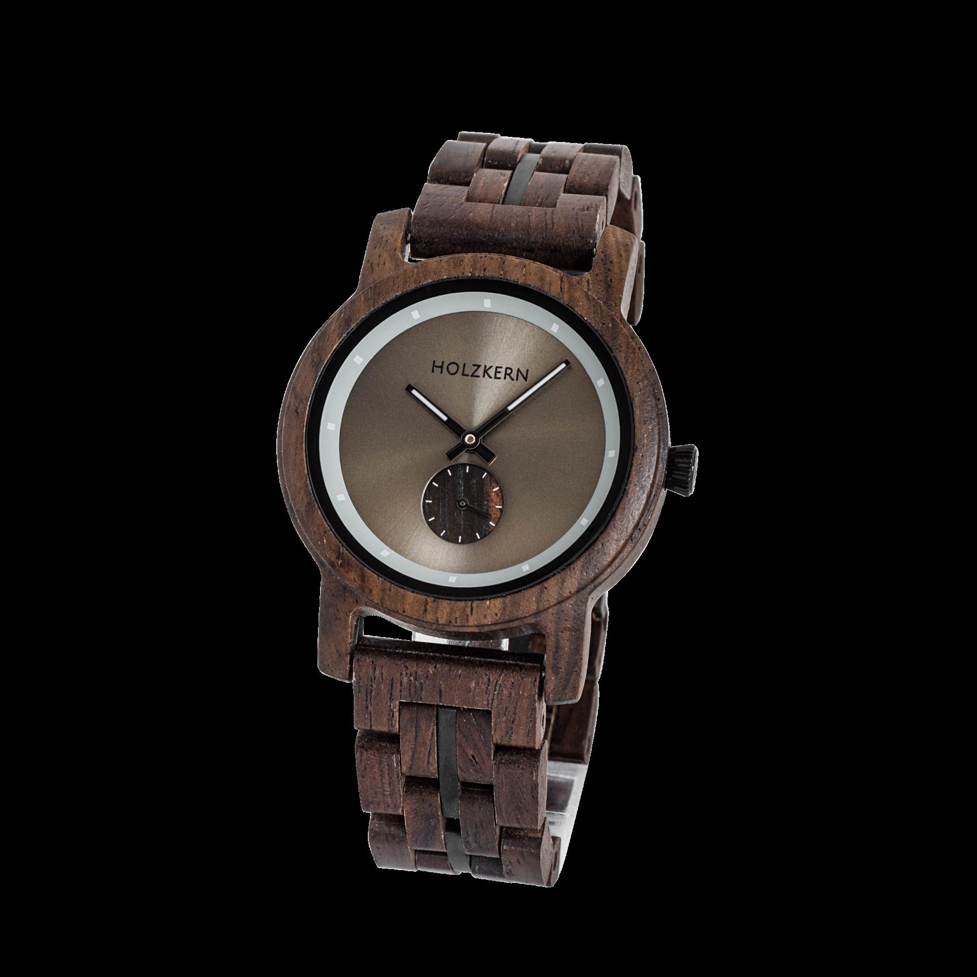 Holzkern Armbanduhr Axe (Leadwood/Asphaltgrau)