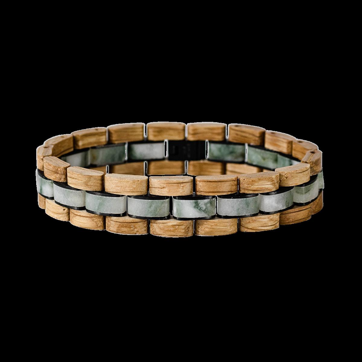 Holzkern Armbanduhr Terzett (Eiche/Marmor)