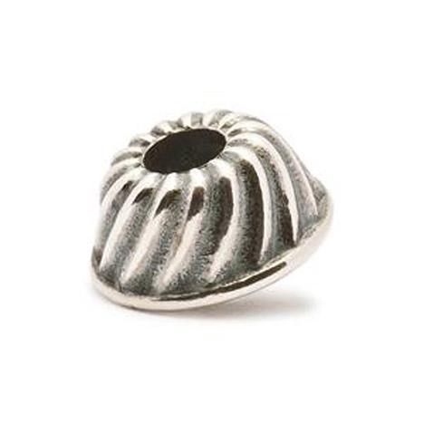 Armbaender für Frauen - Trollbeads Bead 925 Silber Kuchenform  - Onlineshop Goettgen