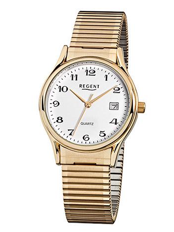 Regent Armbanduhr Herren Edelstahl Metallzugband