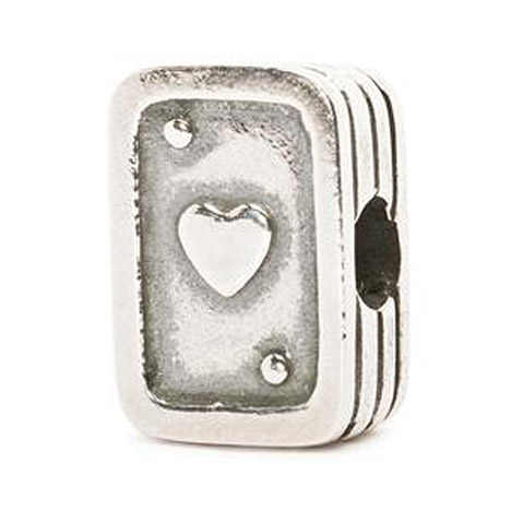 Armbaender für Frauen - Trollbeads Bead 925 Silber Spielkarten  - Onlineshop Goettgen