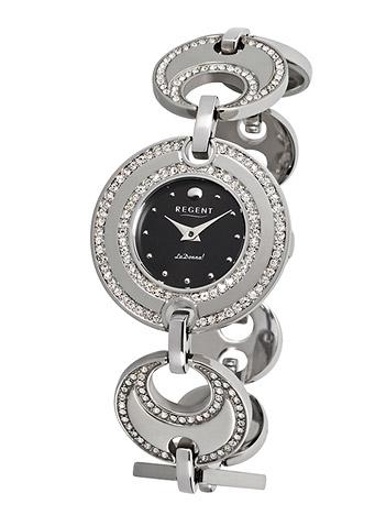 Uhren - Regent Armbanduhr Damen Edelstahl Metallband  - Onlineshop Goettgen