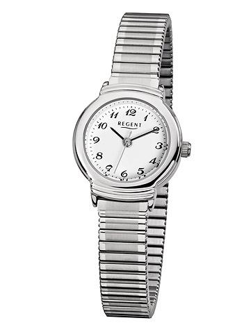 Regent Armbanduhr Damen Weiss Zugband 3 bar
