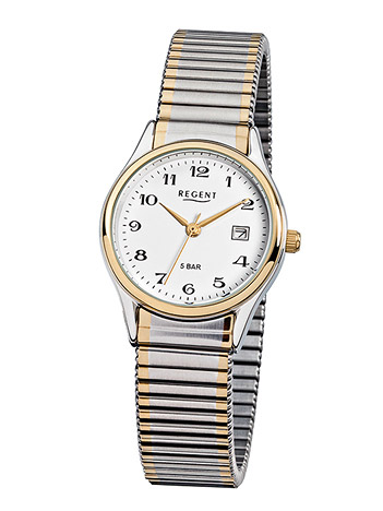 Regent Armbanduhr Damen Bicolor Zugband