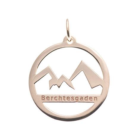 Ketten - Goettgen Anhänger Watzmann Berchtesgaden 925 Silber rosé vergoldet  - Onlineshop Goettgen