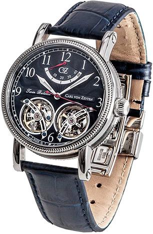 Carl von Zeyten Armbanduhr Bernau Twin Balance, Power Reserve, 3Zeiger