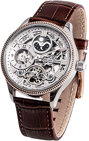 Carl von Zeyten Armbanduhr Kirnbach Dual Time,Tag, Nacht - 2 Zeiger