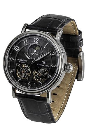 Carl von Zeyten Armbanduhr Murg Dual Balance, Datum,Mondphase