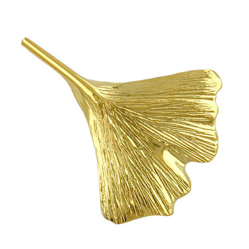 Broschen für Frauen - SIGO Brosche, 30mm Ginkgoblatt, Gold 375  - Onlineshop Goettgen