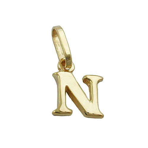 Ketten - SIGO Anhänger, Buchstabe N, Gold 375  - Onlineshop Goettgen