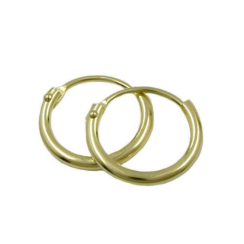 sigo -  Creolen, 11mm, glänzend, Gold 333