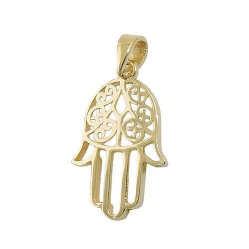 SIGO Anhänger, Schutzsymbol Hand, Gold 375