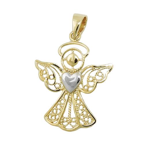 SIGO Anhänger, Engel mit Herz, Gold 375