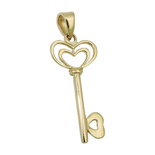 SIGO Anhänger, Herz Schlüssel, Gold 375
