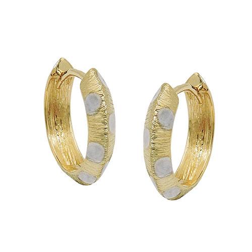 Ohrringe - SIGO Creolen, bicolor diamantiert, Gold 375  - Onlineshop Goettgen