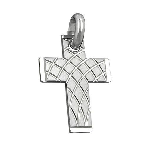 SIGO Anhänger, Kreuz rhodiniert, Silber 925