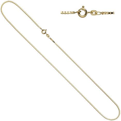 Ketten - SIGO Venezianerkette 333 Gelbgold 1,5 mm 40 cm Gold Kette Halskette Goldkette  - Onlineshop Goettgen