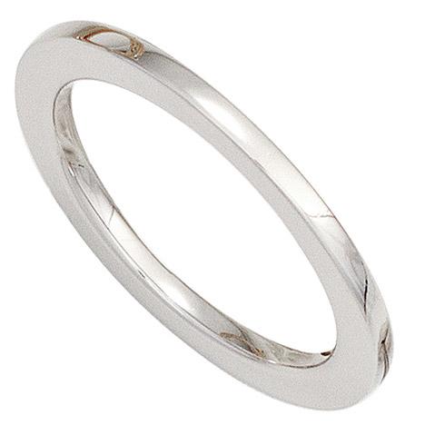 sigo -  Damen Ring 585 Gold Weißgold Weißgoldring schmal schlicht