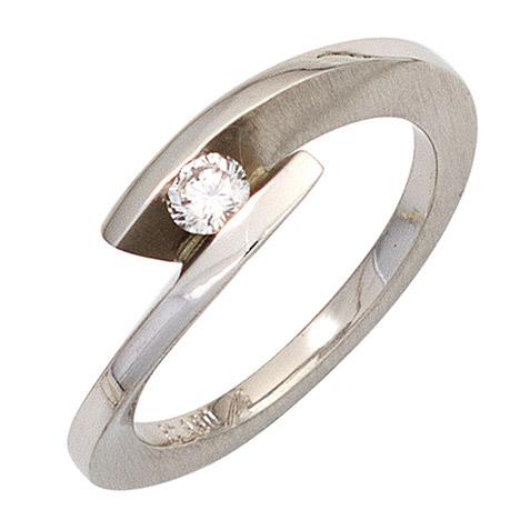 sigo -  Damen Ring 950 Platin matt 1 Diamant Brillant 0,15ct. Platinring