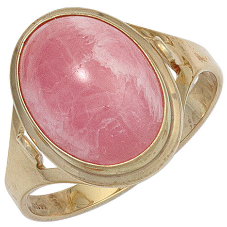 sigo -  Damen Ring 585 Gold Gelbgold 1 Rhodochrosit rosa Goldring