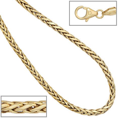 SIGO Zopfkette 585 Gelbgold 2,6 mm 45 cm Gold Kette Halskette Goldkette Karabiner