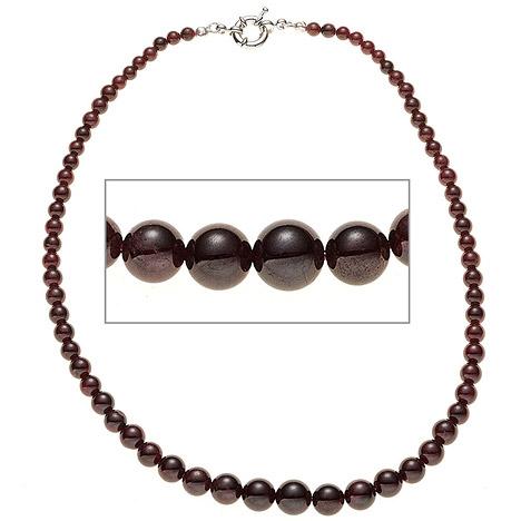 SIGO Halskette Edelsteinkette Granat Verlauf 45 cm Kette