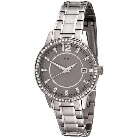 Uhren - JOBO Damen Armbanduhr Quarz Analog Titan mit SWAROVSKI® ELEMENTS Damenuhr Datum  - Onlineshop Goettgen