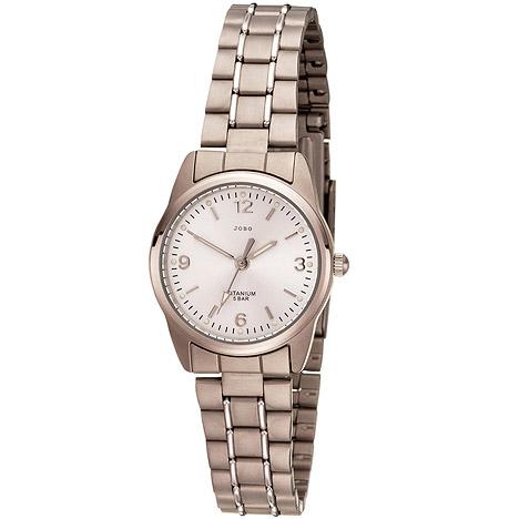Uhren - JOBO Damen Armbanduhr Quarz Analog Titan Damenuhr  - Onlineshop Goettgen