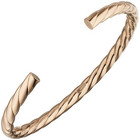 Armbaender - SIGO Armspange offener Armreif 925 Silber rotgold vergoldet Armband oval  - Onlineshop Goettgen