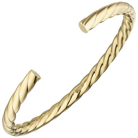 Armbaender - SIGO Armspange offener Armreif 925 Silber gold vergoldet Armband oval  - Onlineshop Goettgen