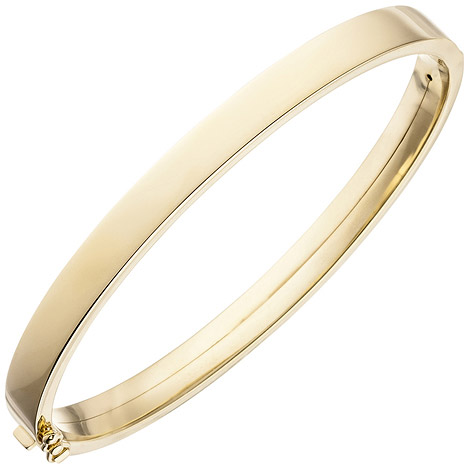 Armbaender - SIGO Armreif Armband oval 375 Gold Gelbgold Goldarmband Goldarmreif  - Onlineshop Goettgen