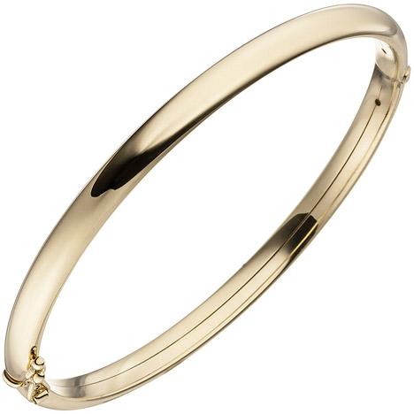 Armbaender - SIGO Armreif Armband oval mit Scharnier 375 Gold Gelbgold Goldarmband Goldarmreif  - Onlineshop Goettgen