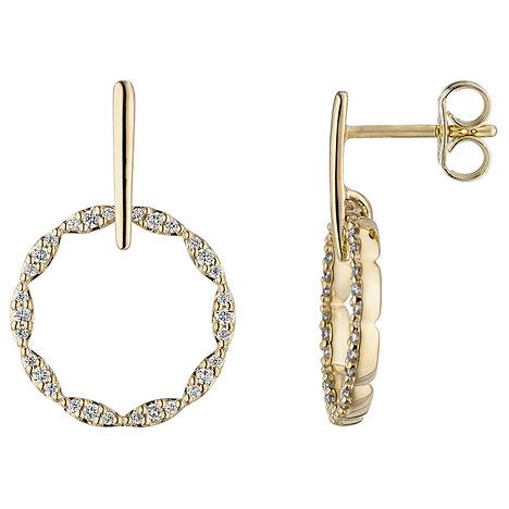 SIGO Ohrhänger 585 Gold Gelbgold 60 Diamanten Brillanten Ohrringe Diamantohrringe