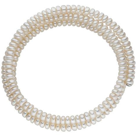 Armbaender - SIGO Armreif 2 reihig aus Süßwasser Perlen Armband Perlenarmband Perlenarmreif  - Onlineshop Goettgen