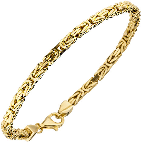 Armbaender - SIGO Königsarmband 925 Sterling Silber gold vergoldet diamantiert 19 cm Armband  - Onlineshop Goettgen