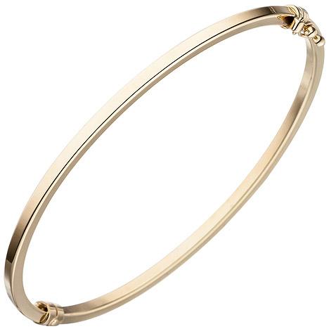 Armbaender - SIGO Armreif Armband oval 585 Gold Gelbgold Goldarmreif  - Onlineshop Goettgen