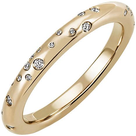 sigo -  Damen Ring 585 Gold Gelbgold 34 Diamanten Brillanten 0,21ct. Diamantring
