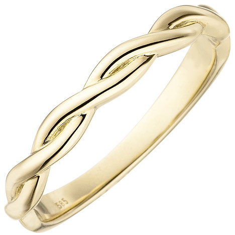 sigo -  Damen Ring geflochten 585 Gold Gelbgold Goldring