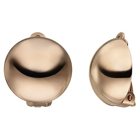 SIGO Ohrclips 925 Sterling Silber rotgold vergoldet Ohrringe