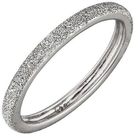 SIGO Damen Ring schmal 925 Sterling Silber mit Struktur Silberring