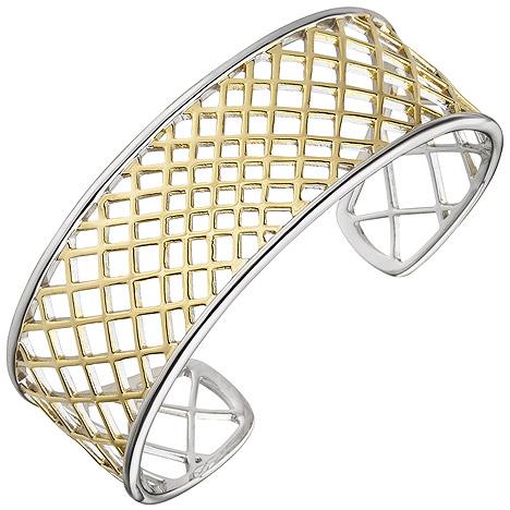Armbaender - SIGO Armspange offener Armreif 925 Silber bicolor vergoldet Armband  - Onlineshop Goettgen