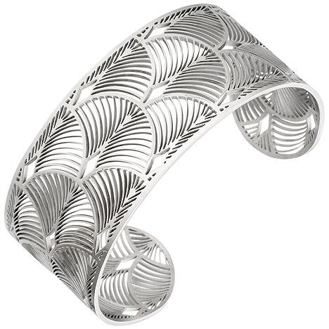 Armbaender - SIGO Armspange offener Armreif Edelstahl Armband  - Onlineshop Goettgen