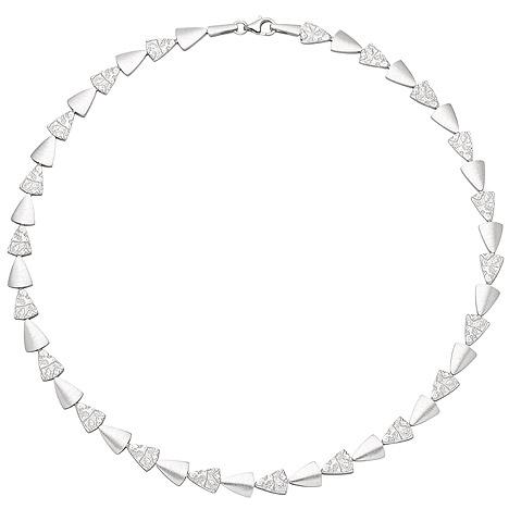 Ketten - SIGO Collier Halskette 925 Sterling Silber gehämmert 45 cm Kette Silberkette  - Onlineshop Goettgen