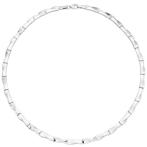 SIGO Collier Halskette 925 Silber 154 Zirkonia 45 cm Kette Silberkette