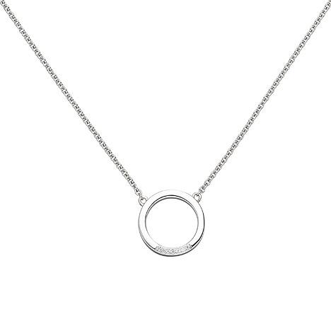 SIGO Collier Halskette 585 Gold Weißgold 7 Diamanten Brillanten 43 cm Kette