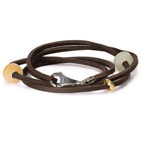 Armbaender für Frauen - Trollbeads Armband 925 Silber braun 36 cm  - Onlineshop Goettgen